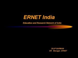 ERNET India Education and Research Network of India