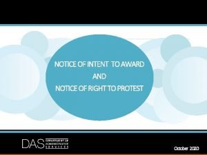 NOTICE OF INTENT TO AWARD AND NOTICE OF