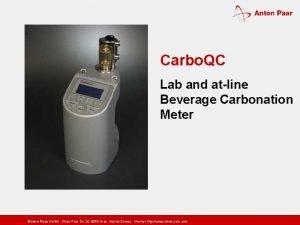 Carbo QC Lab and atline Beverage Carbonation Meter