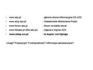 Strony WWW www azs pl gwna strona informacyjna