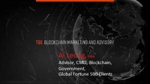 Al Leong MBA Advisor CMO Blockchain Government Global