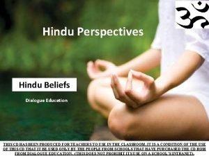 Hindu Perspectives Hindu Beliefs Dialogue Education THIS CD