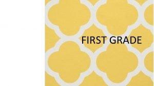 FIRST GRADE JANE HAYES FIRST GRADE Allergies No