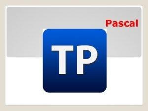 Pascal Pascal dili Paskal 1971 ci ild professor