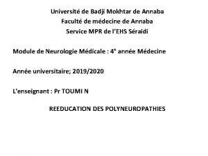 Universit de Badji Mokhtar de Annaba Facult de