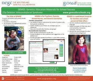 GEMSS Genetics Education Materials for School Success 22