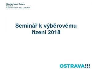 Statutrn msto Ostrava Magistrt Odbor socilnch vc a