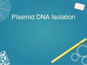 Plasmid DNA Isolation Principle DNA isolation is a