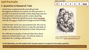 SelfPortraits 1 Question Research Task SLIDE NAVIGATION 1