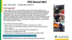 PDO Second Alert Date 06 05 2020 Incident