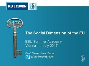 The Social Dimension of the EU ESU Summer