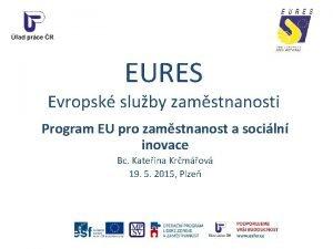 EURES Evropsk sluby zamstnanosti Program EU pro zamstnanost