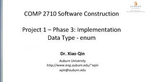 COMP 2710 Software Construction Project 1 Phase 3