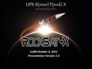 UPRRriver Prock X Un Ivers Ity of Puerto
