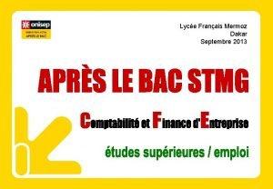 Lyce Franais Mermoz Dakar Septembre 2013 Aprs le