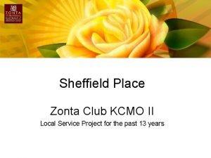 Sheffield Place Zonta Club KCMO II Local Service