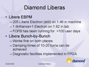 Diamond Liberas Libera EBPM 205 Libera Electron still