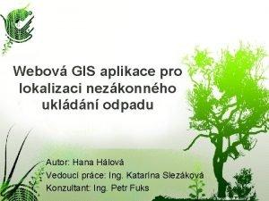 Webov GIS aplikace pro lokalizaci nezkonnho ukldn odpadu