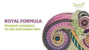 ROYAL FORMULA This royal skin care range based