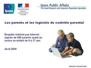 Les parents et les logiciels de contrle parental