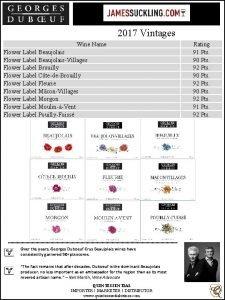 2017 Vintages Wine Name Flower Label BeaujolaisVillages Flower
