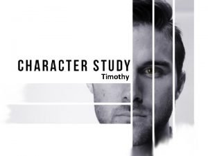 Timothy Timothy A LIFE OF COMMITMENT Committed to