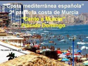 Costa mediterrnea espaola 2 parte la costa de