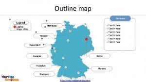 Outline map Germany Legend Hamburg Capital Major cities