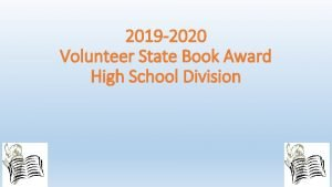 2019 2020 Volunteer State Book Award High School