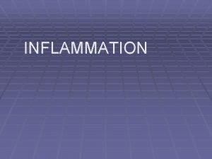 INFLAMMATION INFLAMMATION Defn Local response of living mammalian