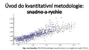 vod do kvantitativn metodologie snadno a rychle Mgr