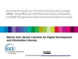 Assessing the impact our Information Literacy skills packages
