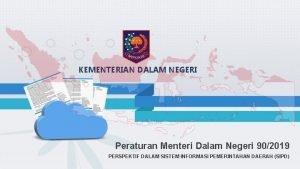 KEMENTERIAN DALAM NEGERI Peraturan Menteri Dalam Negeri 902019