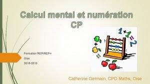 Calcul mental et numration CP Formation REPREP Oise