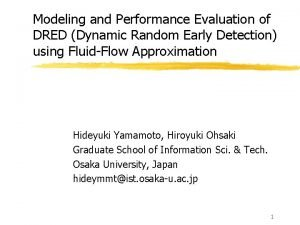 Modeling and Performance Evaluation of DRED Dynamic Random