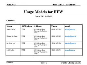 May 2013 doc IEEE 11 130554 r 0