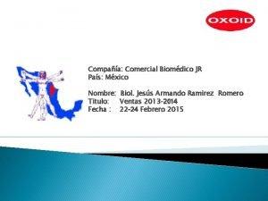 Compaa Comercial Biomdico JR Pas Mxico Nombre Titulo