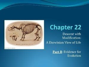 Chapter 22 Descent with Modification A Darwinian View