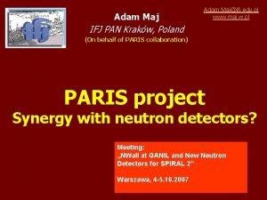 Adam Maj Adam Majifj edu pl www maj