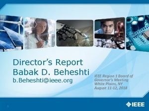 Directors Report Babak D Beheshti b Beheshtiieee org