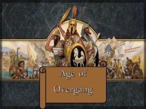 Age of Overgang Age of Overgang Doel Jouw