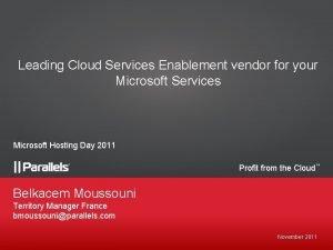 Leading Cloud Services Enablement vendor for your Microsoft