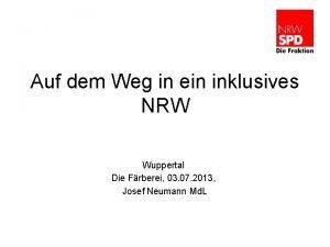 Auf dem Weg in ein inklusives NRW Wuppertal