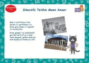 Blynyddoedd 1 6 Ditectifs Teithio Mewn Amser Maer