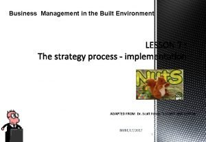 Business Management in the Built Environment ADAPTED FROM