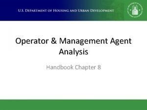 Operator Management Agent Analysis Handbook Chapter 8 Why
