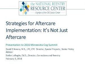 Strategies for Aftercare Implementation Its Not Just Aftercare