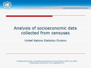 Analysis of socioeconomic data collected from censuses United