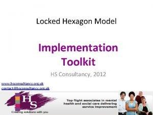 Locked Hexagon Model Implementation Toolkit HS Consultancy 2012