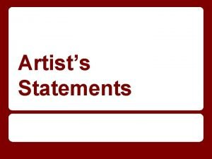 Artists Statements What is an Artist Statement A